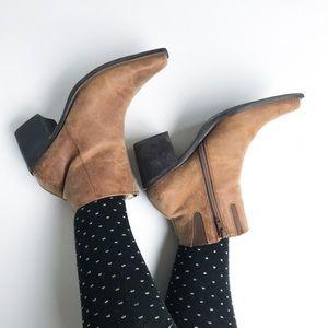 Vintage • suede western booties